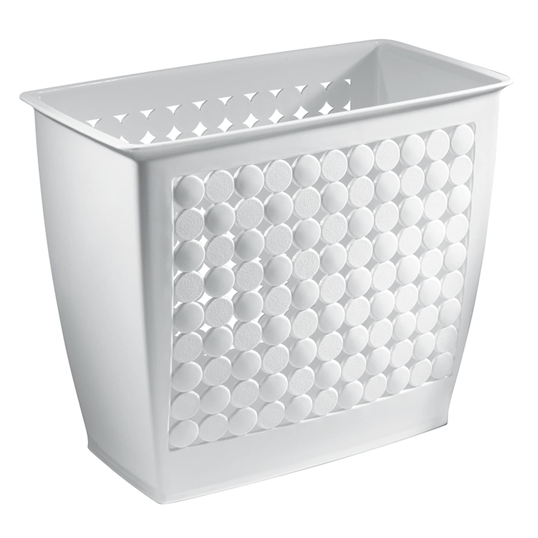 Amazon.com: InterDesign Orbz Wastebasket Trash Can For Bathroom, Office,  Kitchen   White: Home U0026 Kitchen