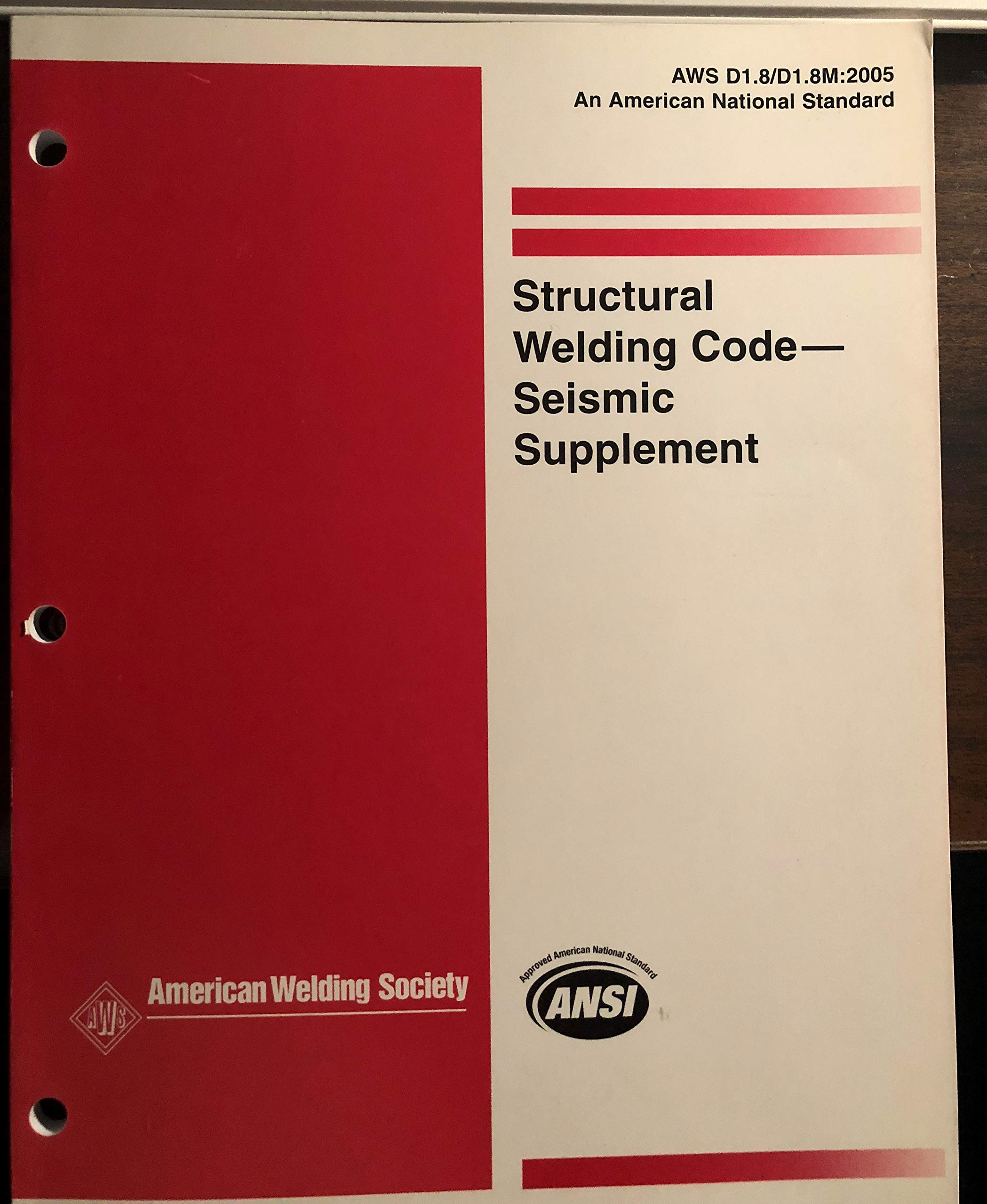 D1 8 D1 8m 2016 Structural Welding Code Seismic Supplement American Welding Society 9780871718945 Amazon Com Books