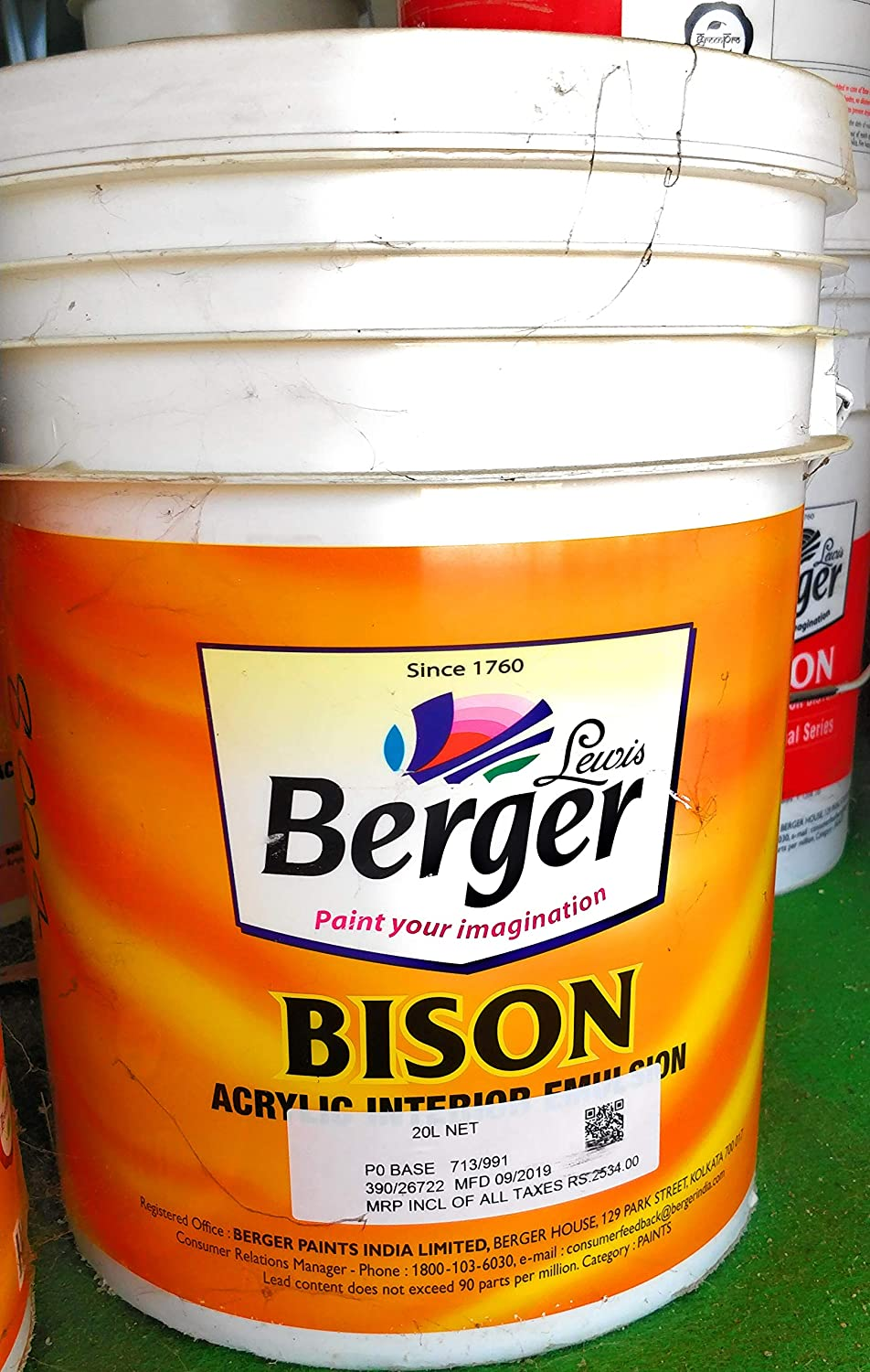 Berger Bison Paint 1 L White Amazon In Home Improvement