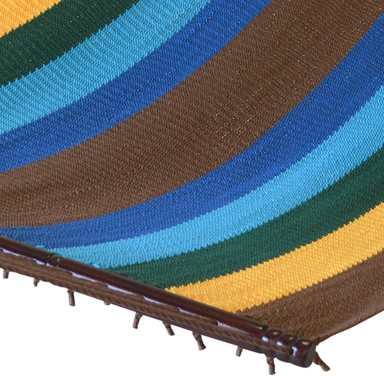 """Caribbean Hammocks 55"""" Wide Jumbo Caribbean Hammock - Multi Color Yellow - 600 lb Weight Capacity"""