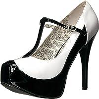 Pleaser Womens Tee45w/bw Tee45w/Bw Black Size: