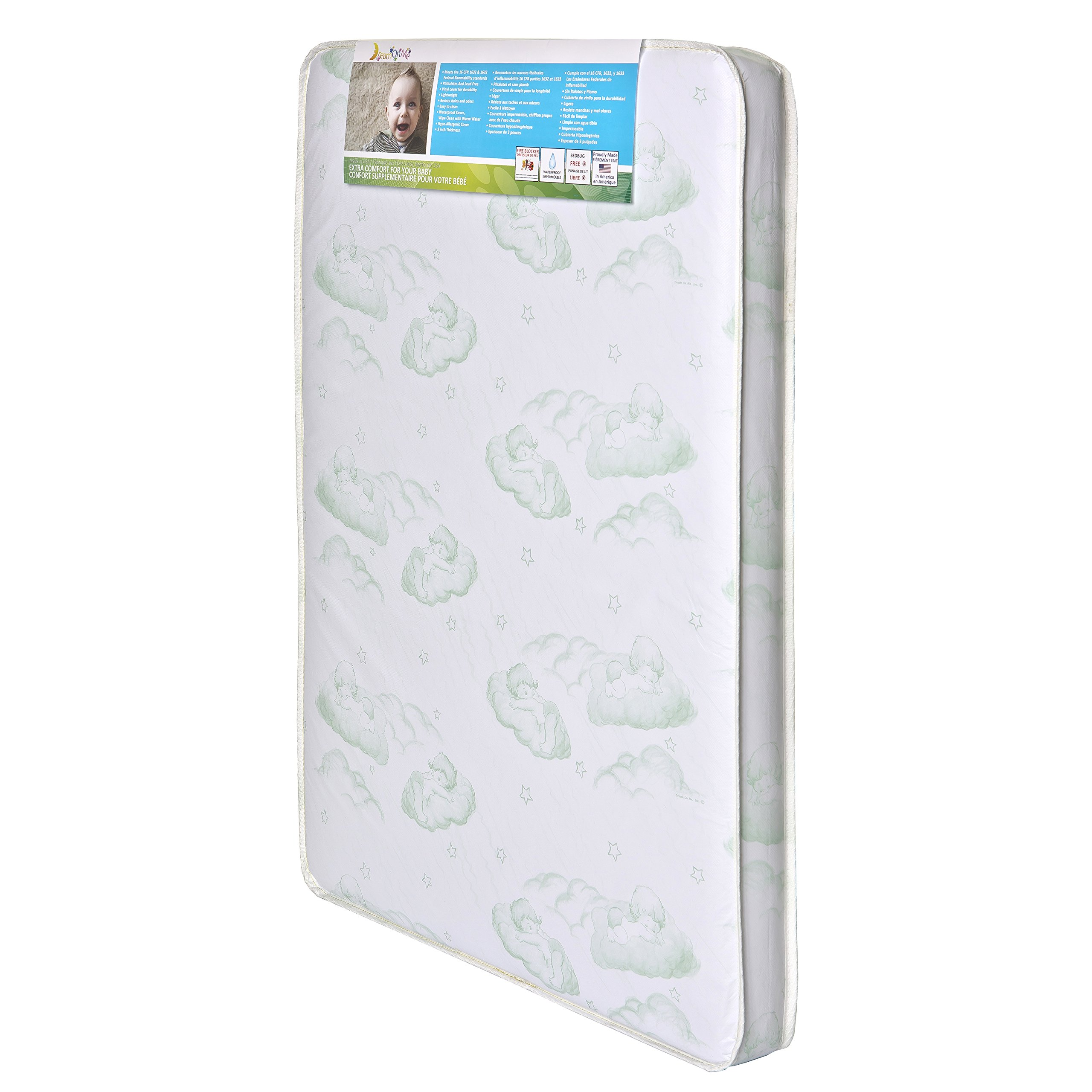 Dream On Me EvenFlo Baby Suite Selection 100 3''Foam mattress with Square Corner