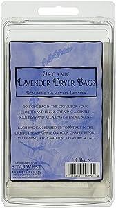 Starwest Botanicals Organic Lavender Dryer Bags, 4 Count