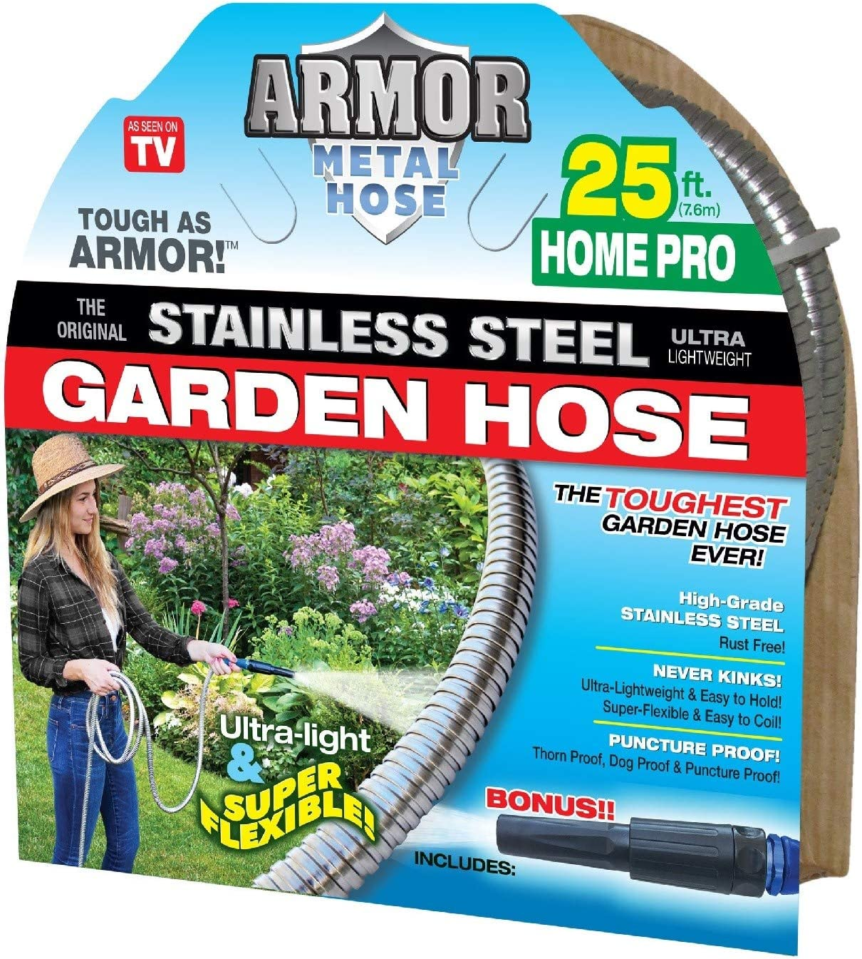 Stainless Steel Metal Hose (25' Armor Home Pro)