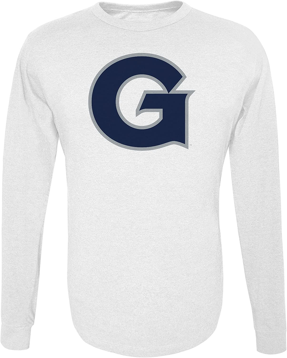 White Large Alta Gracia NCAA Georgetown Hoyas Mens Long Sleeve R-Spun Tee