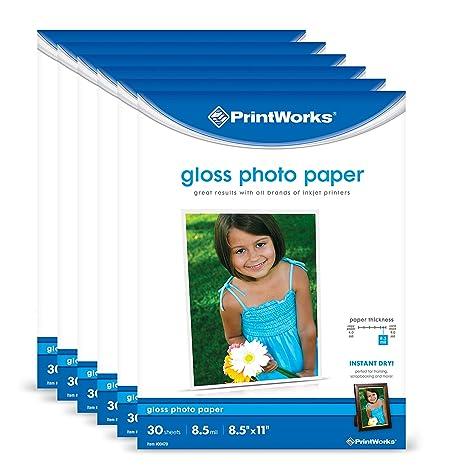 Amazon.com: Printworks papel fotográfico brillante para ...