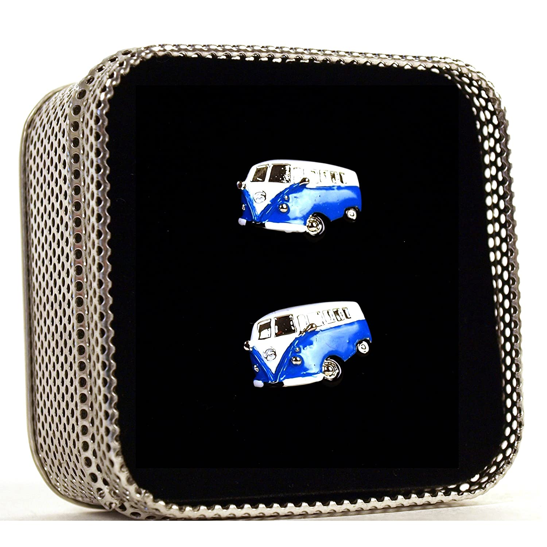 Swinging Sixties Cufflinks Volkswagen Camper Assorted Colours