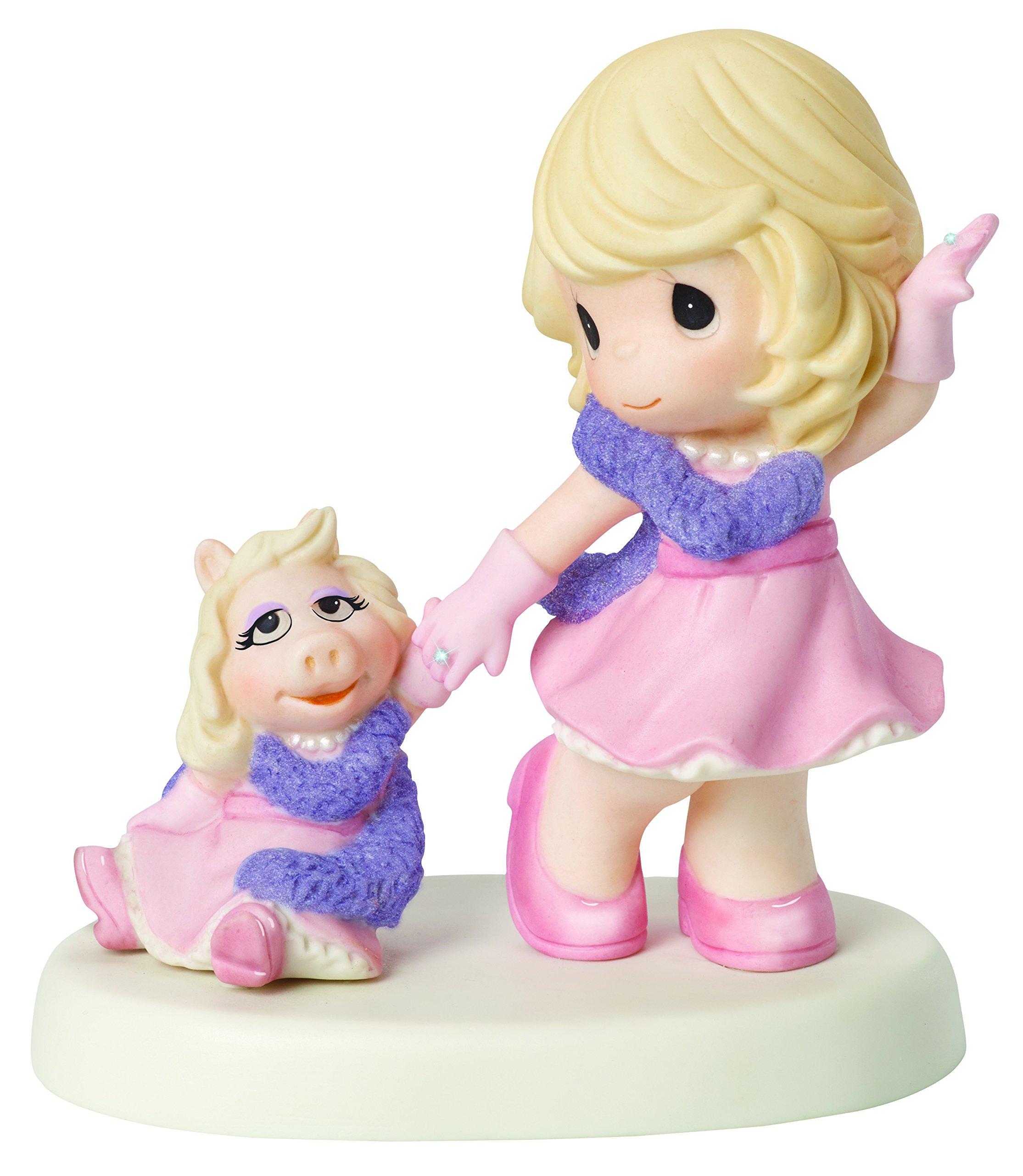 Precious Moments, Disney The Muppets, Our Friendship Is Fabulous Bisque Porcelain Figurine, Miss Piggy, 154014