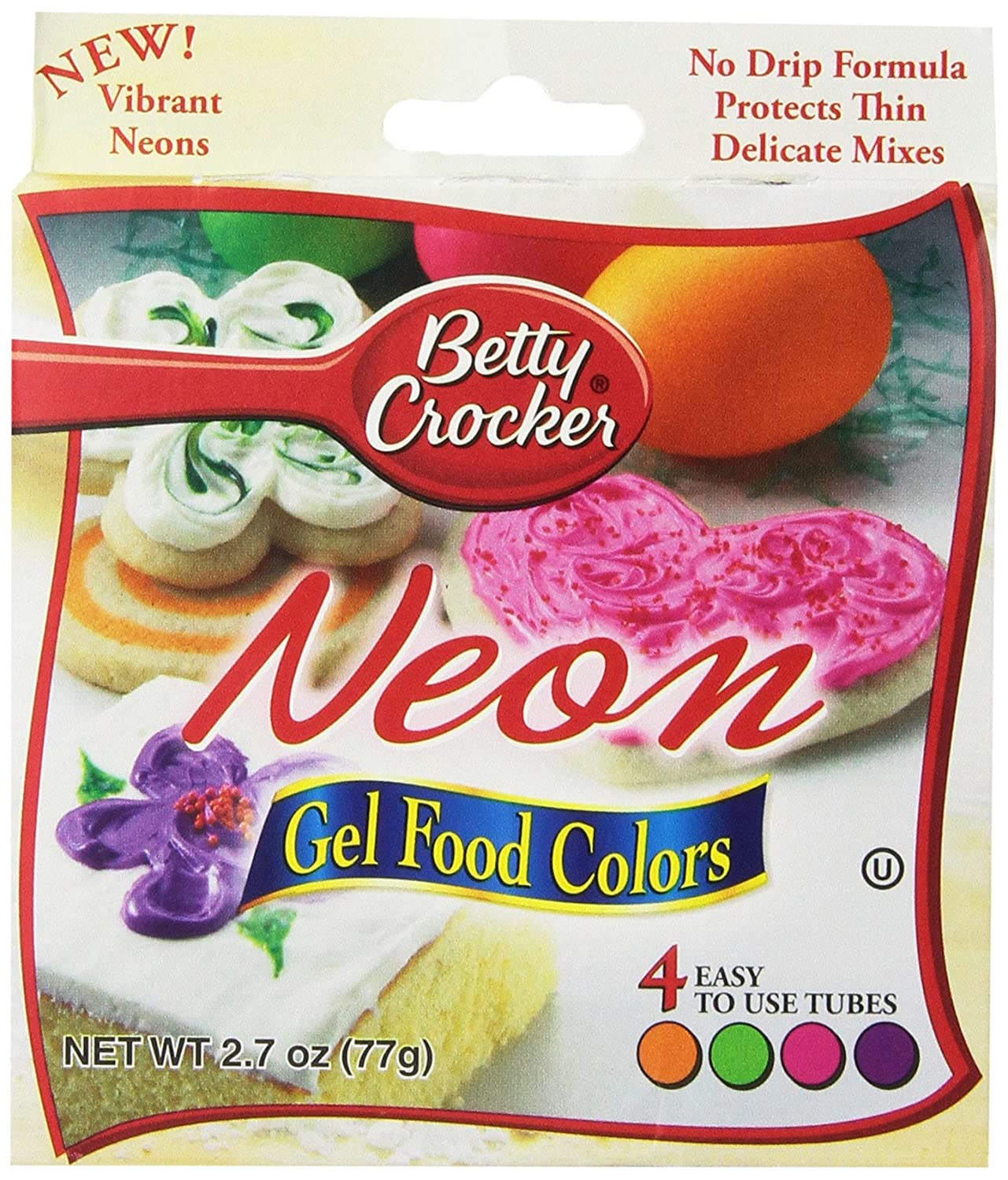Amazon.com : Betty Crocker Food Color Neon Gel, 2.7 oz : Grocery ...