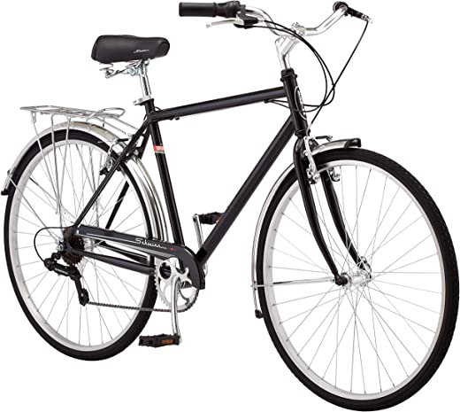 Schwinn Wayfarer Bike Mens and Womens Hybrid Retro-Styled Cruiser, Step-Over or Step-Through frame option, 7-Speed