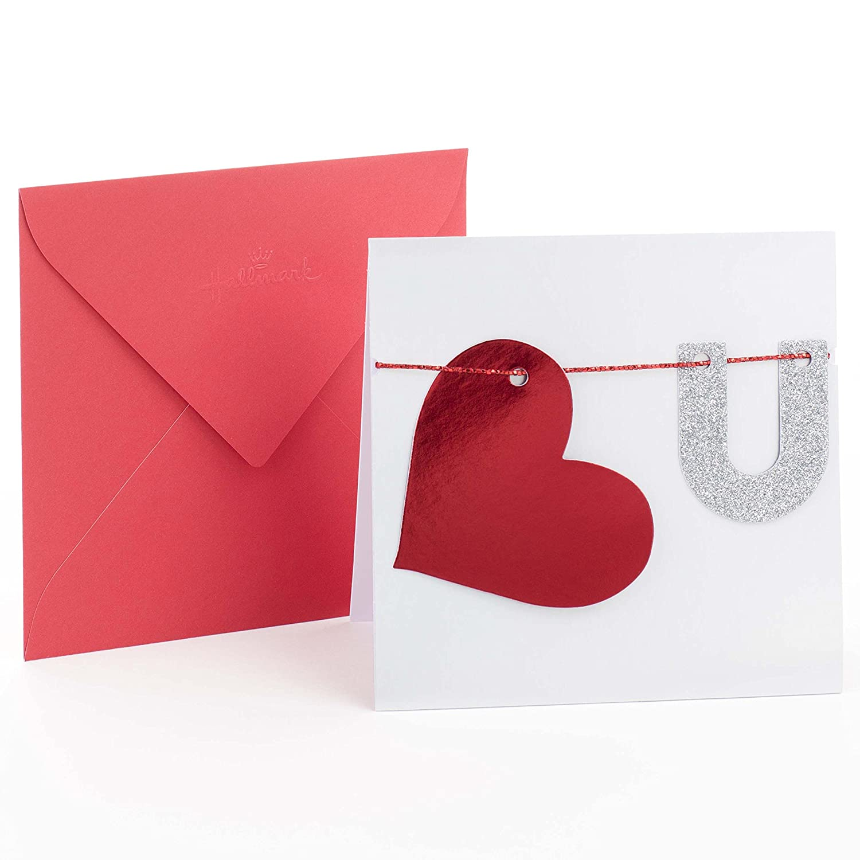 Amazon hallmark signature anniversary greeting card heart u amazon hallmark signature anniversary greeting card heart u office products kristyandbryce Image collections