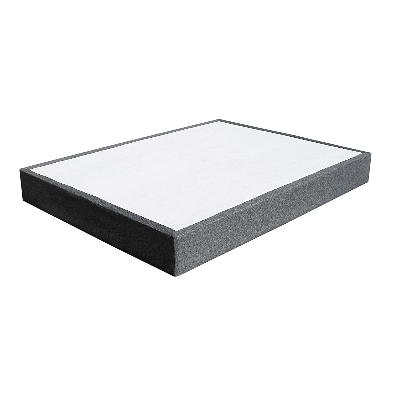 TATAGO 3000lbs Max Weight Capacity 9 Inch Heavy Duty Metal Box Spring Mattress Foundation, Extra-Strong Support Non-Slip, No Noise, Easy Assembly Queen