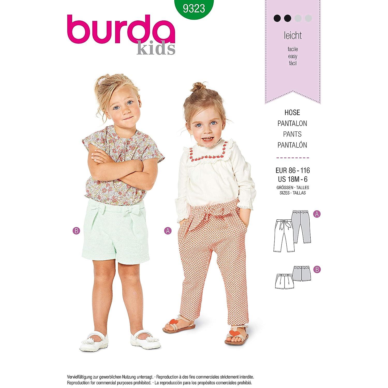 Amazon.com: Burda Style Sewing Pattern 9323 - Toddlers Elastic Waist Pants, A(1-2-3-4-5-6): Arts, Crafts & Sewing