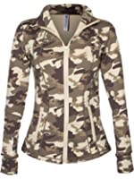 Blockout Women's Camouflage Print Fitness Sport Jacket