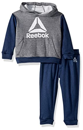 Amazon.com  Reebok Boys  Toddler Play to Win Pullover Fleece Hoodie and Jog  Pant  Clothing f2b0b267e
