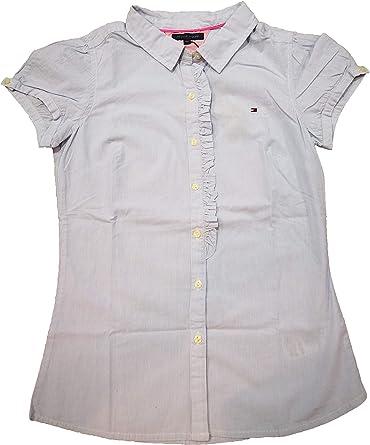 Tommy Hilfiger -Camisa EX57111829 Banker Stripe -Camisa Rayas Manga Corta NIÑA: Amazon.es: Ropa y accesorios