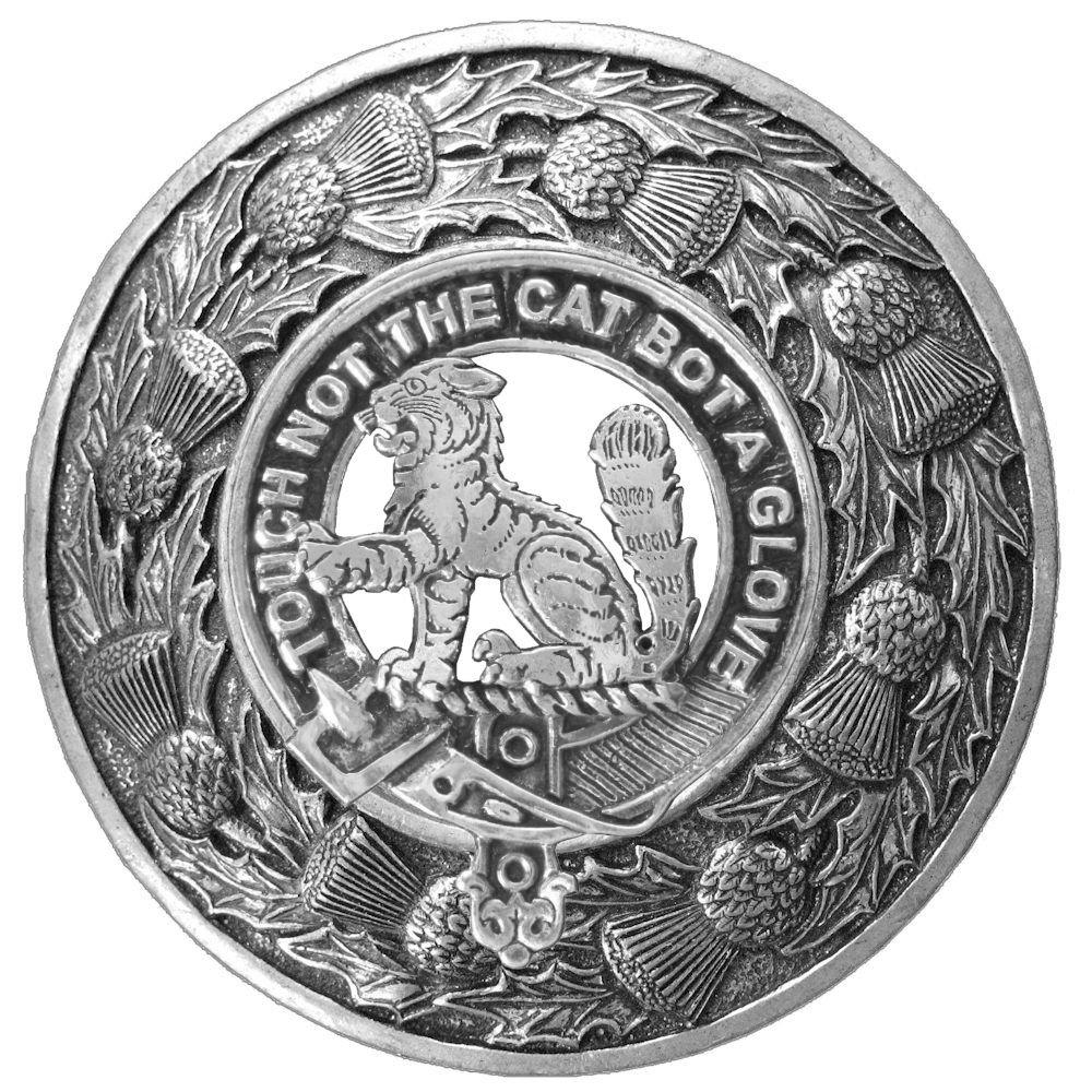 MacPherson Clan Scottish Highlanders Plaid Brooch
