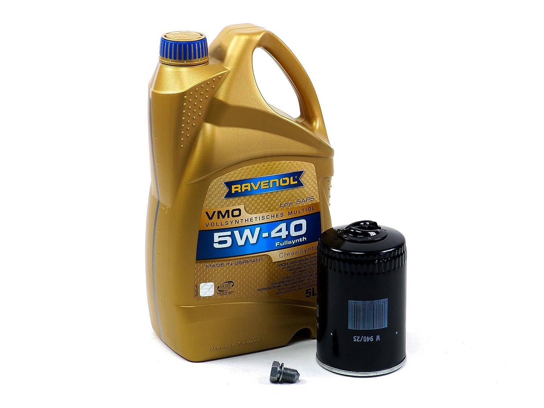 Blau j1 a5054-c VWゴルフIVモーターオイル変更キット – 2000 – 06 W / 4円柱1.8 Tエンジン – 5 W40 B01ERW8VJ8