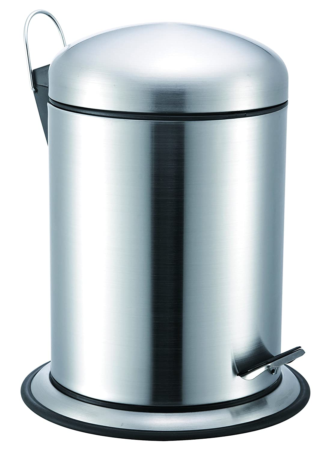 Amazon.com: Stainless Steel Pedal Trash Can/Bin: Dome Lid, Round ...