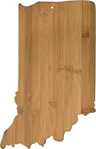 Totally Bamboo Indiana State Shaped Bamboo Serving & Cutting Board