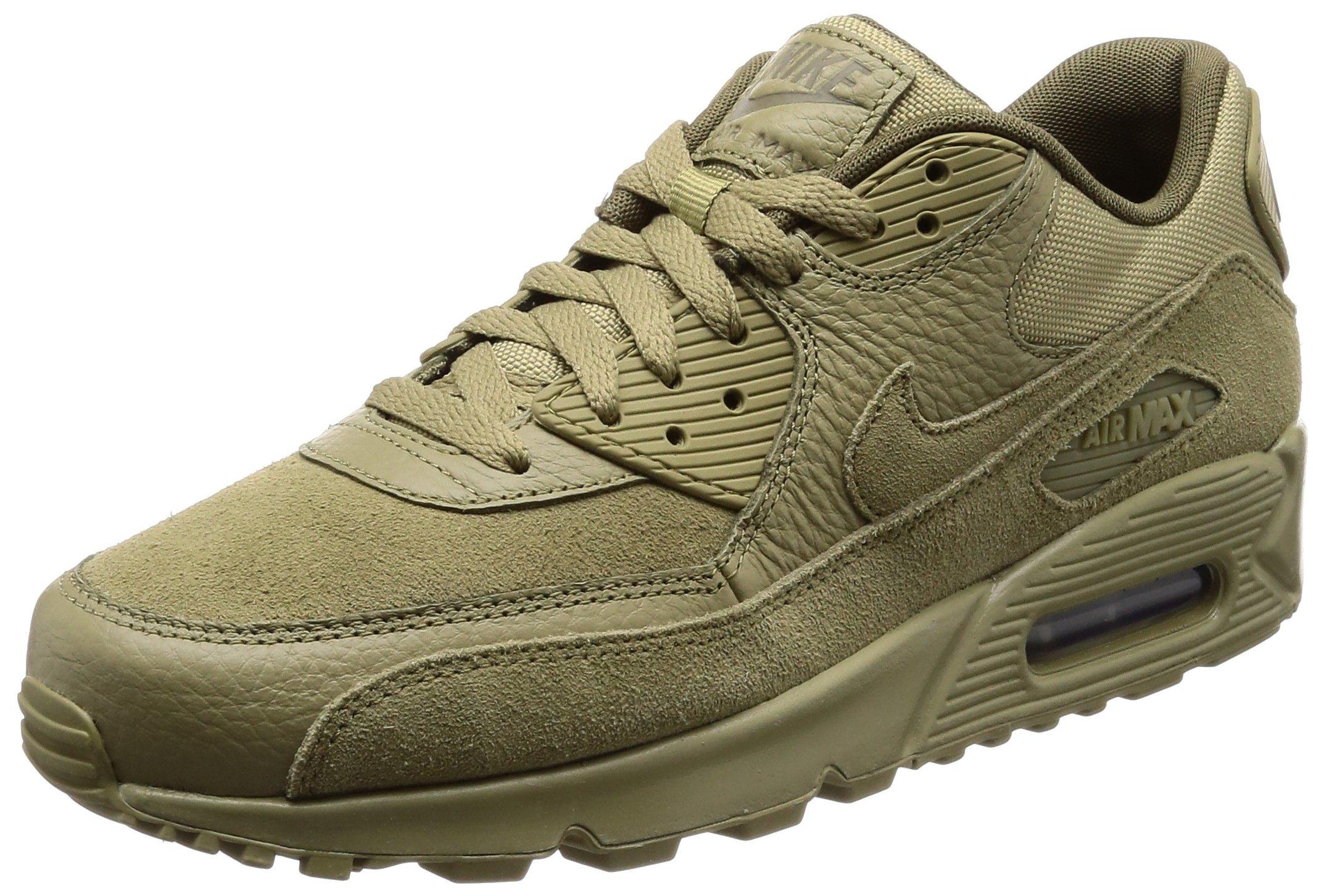 pretty nice 657d6 944f2 Galleon - Nike Men s Air Max 90 Premium Neutral Olive 700155-202 (Size  9.5)