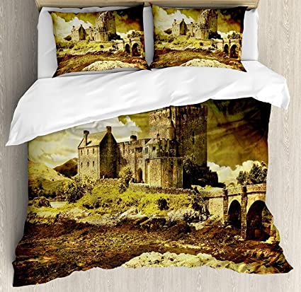 Amazon Medieval Bet Set 4pcs Bedding Sets Duvet Cover