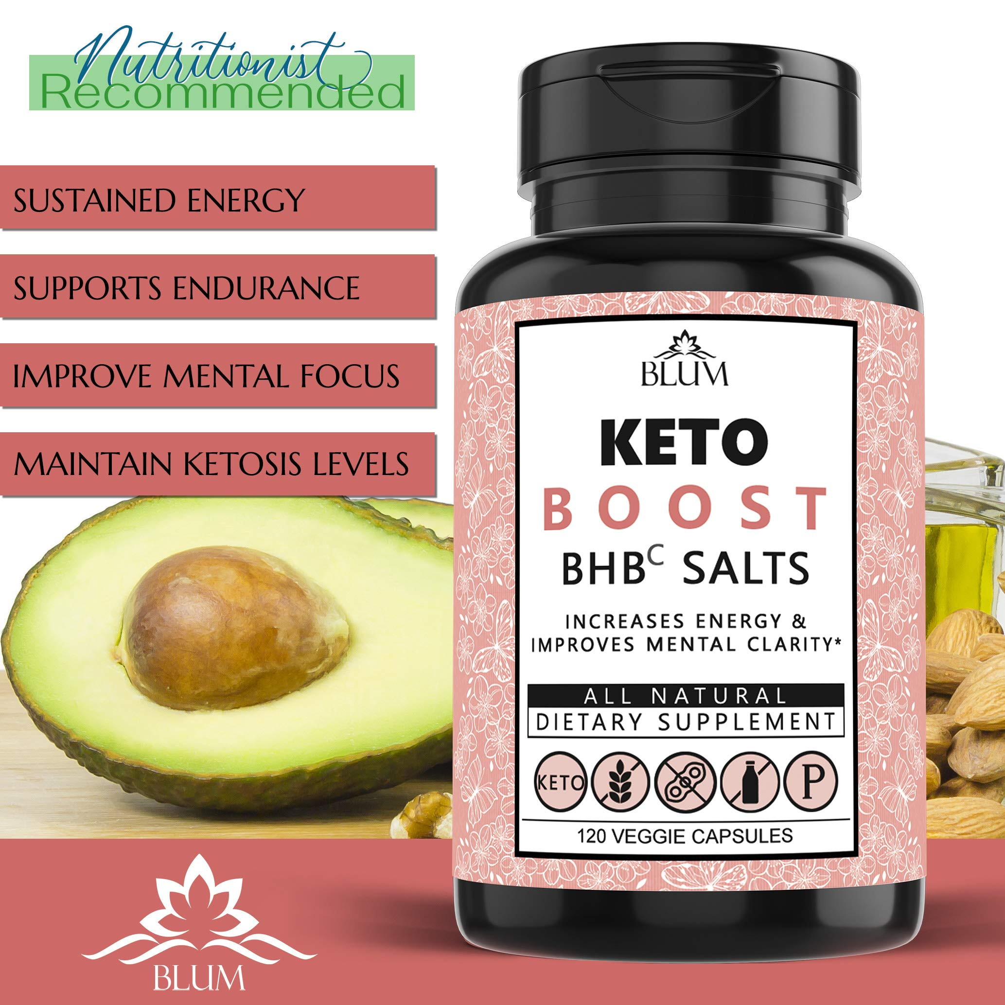 Keto Pills Weight Loss Supplements Keto Diet Pills for Ketosis | Advanced BHB Exogenous Ketones 800mg Capsules for Rapid Fat Burn, Suppress Appetite, Increase Metabolism, Energy and Mental Focus 120ct by Ovillow (Image #2)