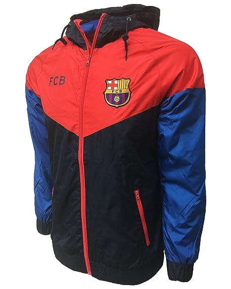Amazon.com: HKY FC Barcelona ligero impermeable chamarra de ...