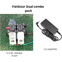 Fieldstar Heavy Duty Double Battery Sprayer Pump (12V,4.5 A) + 12 v Adapter