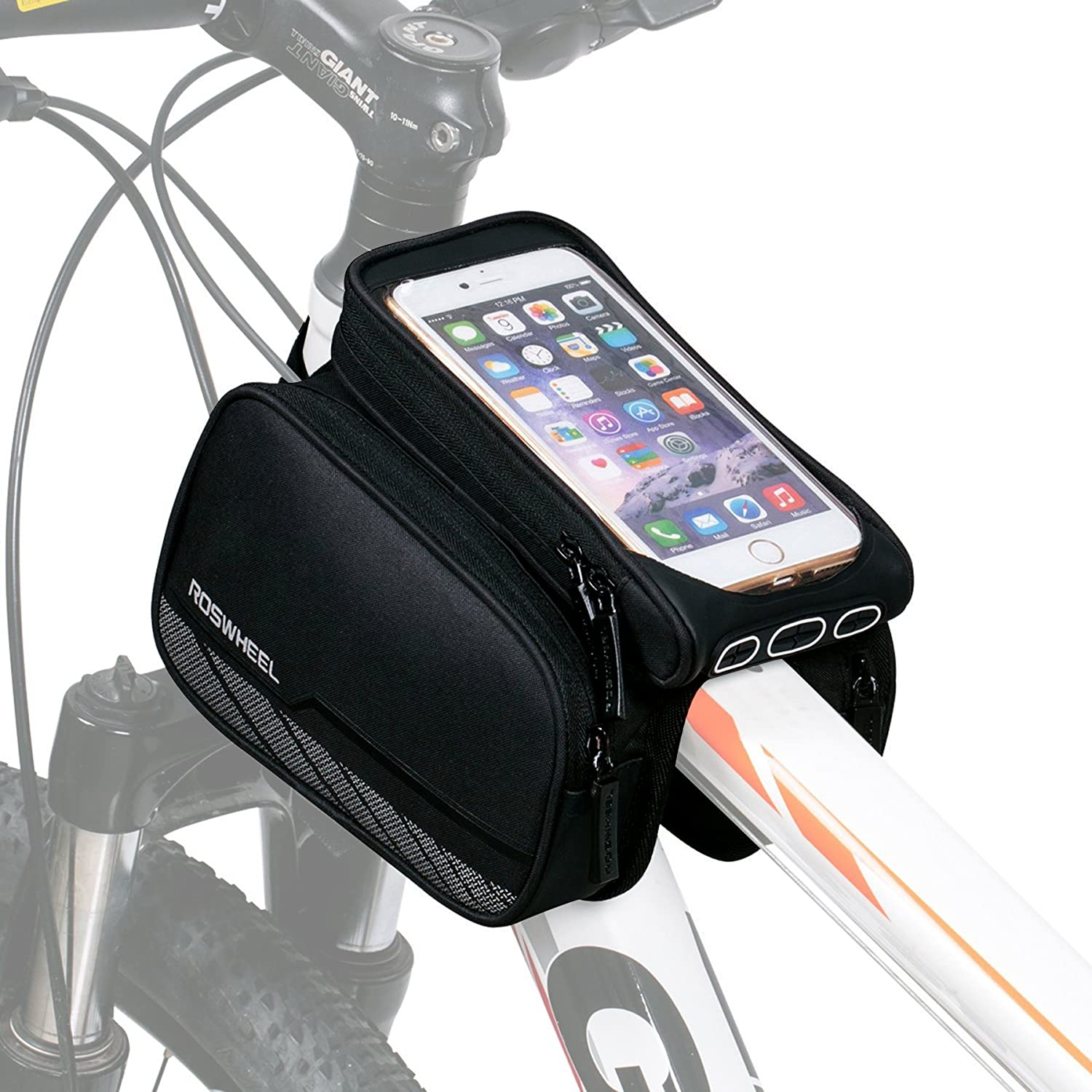 Bicycle Frame Bag Waterproof Bike Front Top Tube Cell Phone GPS Tool Case Pouch