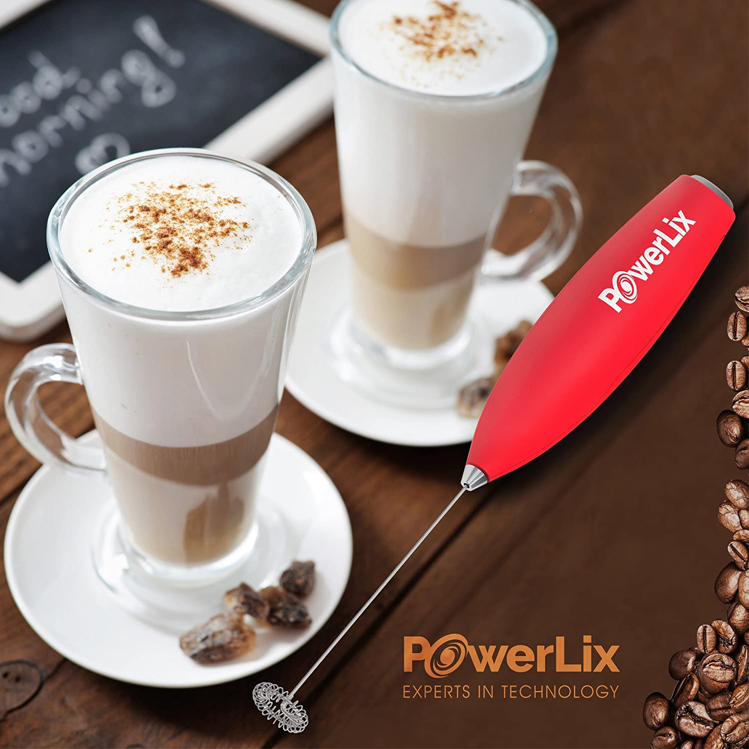 Amazon.com: PowerLix Milk Frother Handheld Battery Operated ...