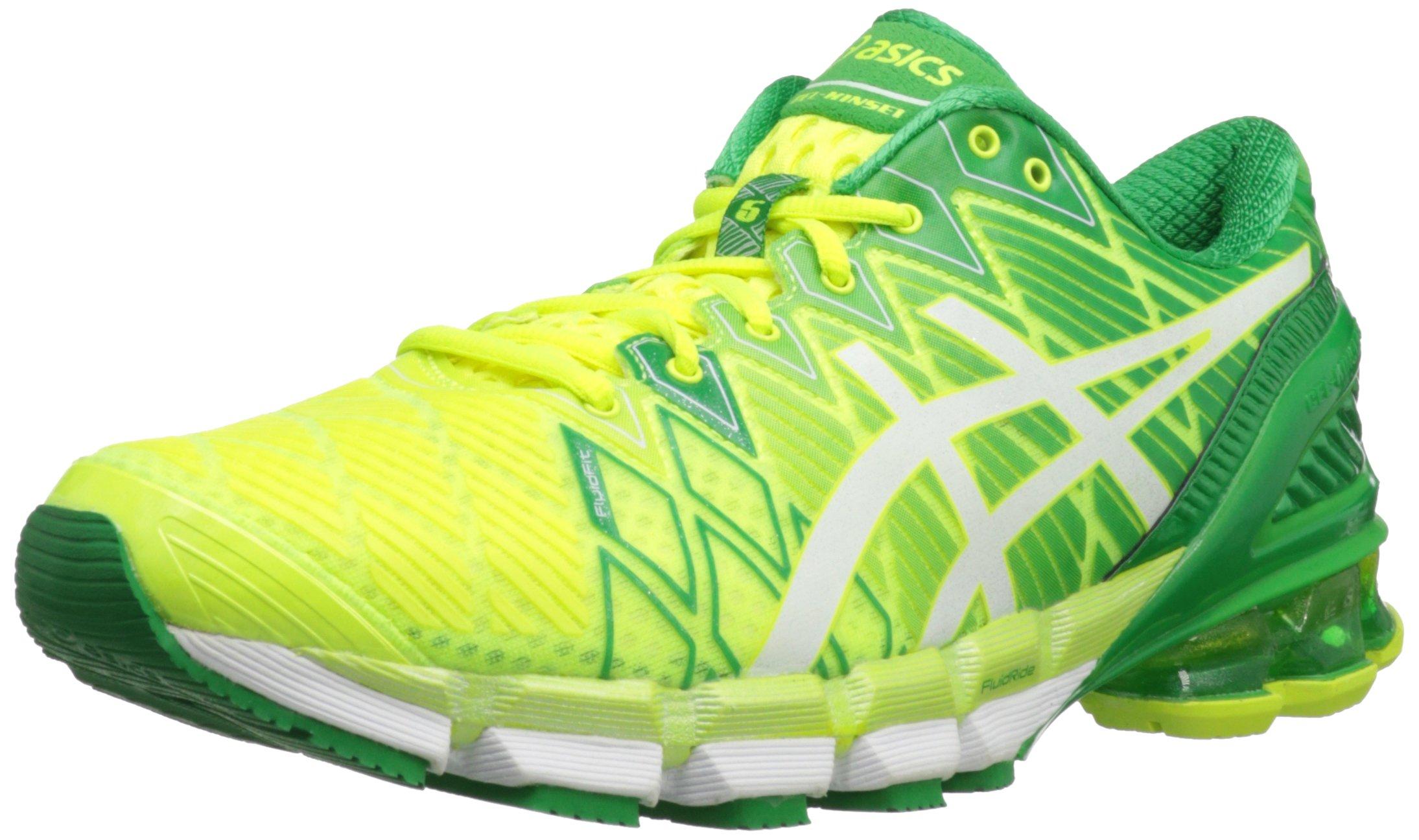 size 40 5d2bd f7355 Galleon - ASICS Men s Gel-Kinsei 5 Running Shoe,Flash Yellow White Green,9.5  M US