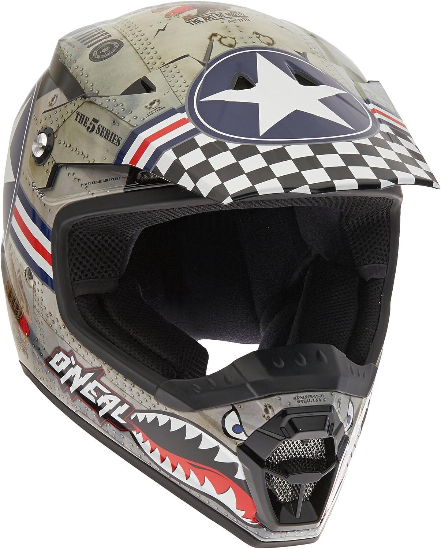 O Neal 5 Series Wingmann Motocross Enduro Mtb Helm Metal Weiß 2016 Größe M 57 58 Cm Bekleidung