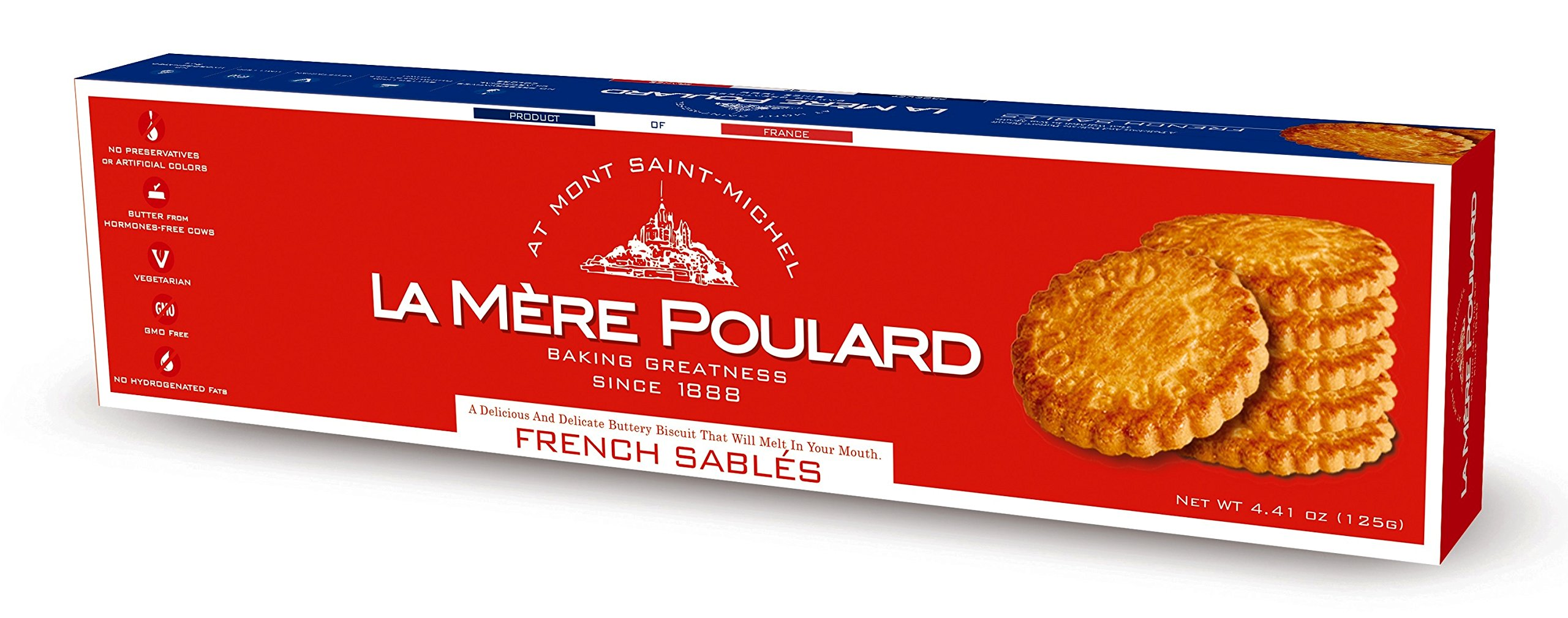 La Mere Poulard French Sables Tradition Butter Cookies, 125 Gram (Pack of 14)