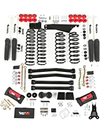 "Rugged Ridge 18415.60 ORV 4"" - 5"" Suspension Lift Kit with Shocks for 07 Up Wrangler JK 2 Door and 4 Door"