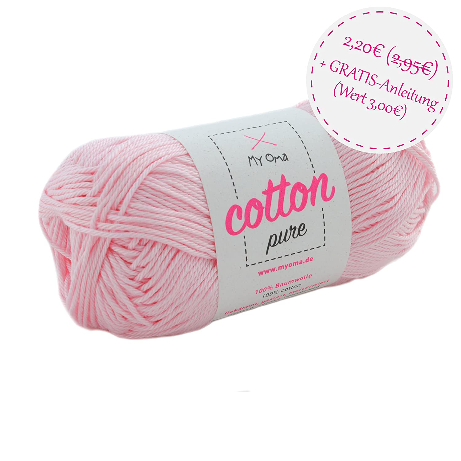 Wolle Zum Stricken Myoma Cotton Pure Aprikose Fb 0194