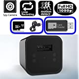 Covert USB Wall Charger Hidden Spy Camera, Motion Detection, 32GB Memory Card Included, Batteryless HD 1080P Video Recorder, Latest Updated Version