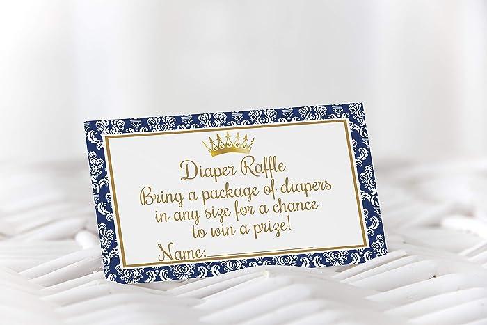 amazon com prince diaper raffle tickets damask baby shower prince