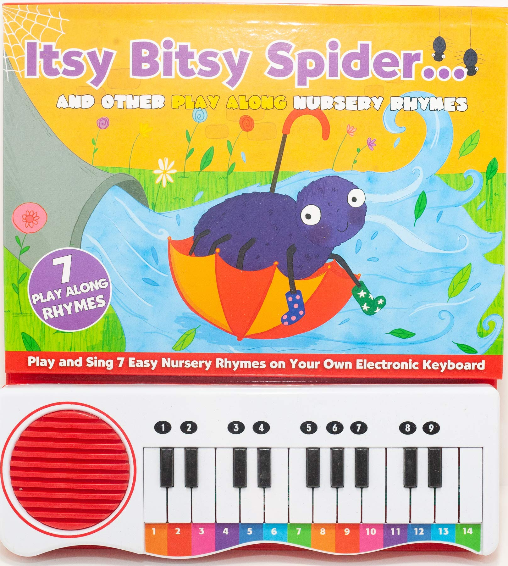 Nursery Rhymes Itsy Bitsy Spider: Novelty Activity Book (Piano Book)  Hardcover – July 1, 2014