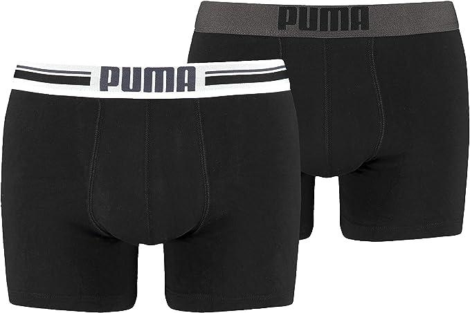 Puma Placed Logo - Pack de 2 bóxers para hombre: Puma Bodywear: Amazon.es: Ropa y accesorios
