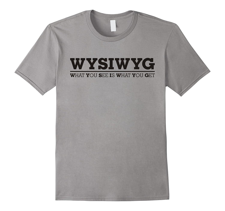 Abbreviation - acronym - WYSIWYG - black line T-Shirt-PL