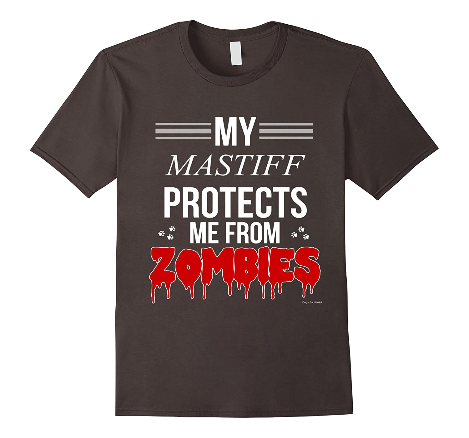 Funny Zombie Mastiff - Dog Shirt-TH