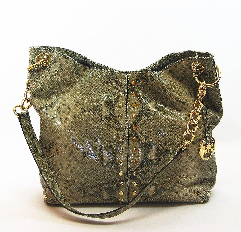 ee8f63f2945e Michael Kors Uptown Astor Large Shoulder Tote Handbags - Angora Embellished  Python  Amazon.co.uk  Clothing