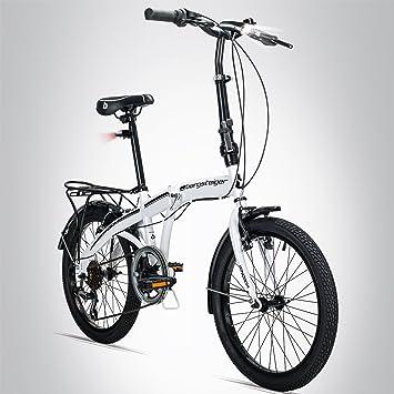 Bergsteiger Windsor - Bicicleta plegable de 20pulgadas, cambio Shimano de 6velocidades