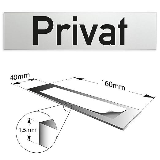 Cartel para puerta de 160 x 40 x 1,5 mm de aluminio ...