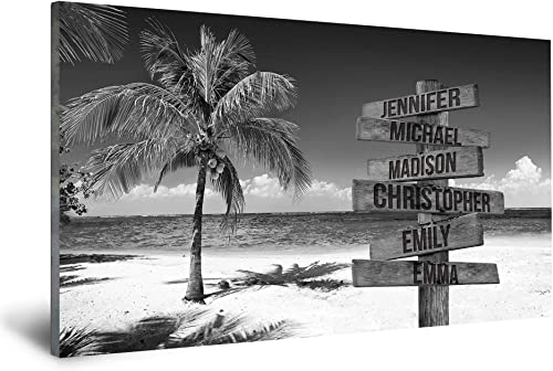 FAMILY GIFTS CO. Ocean Breeze Multi Names Premium Canva
