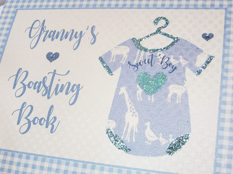 BV5S Blue Vest White Cotton Cards Grans Boasting Book Photo Album