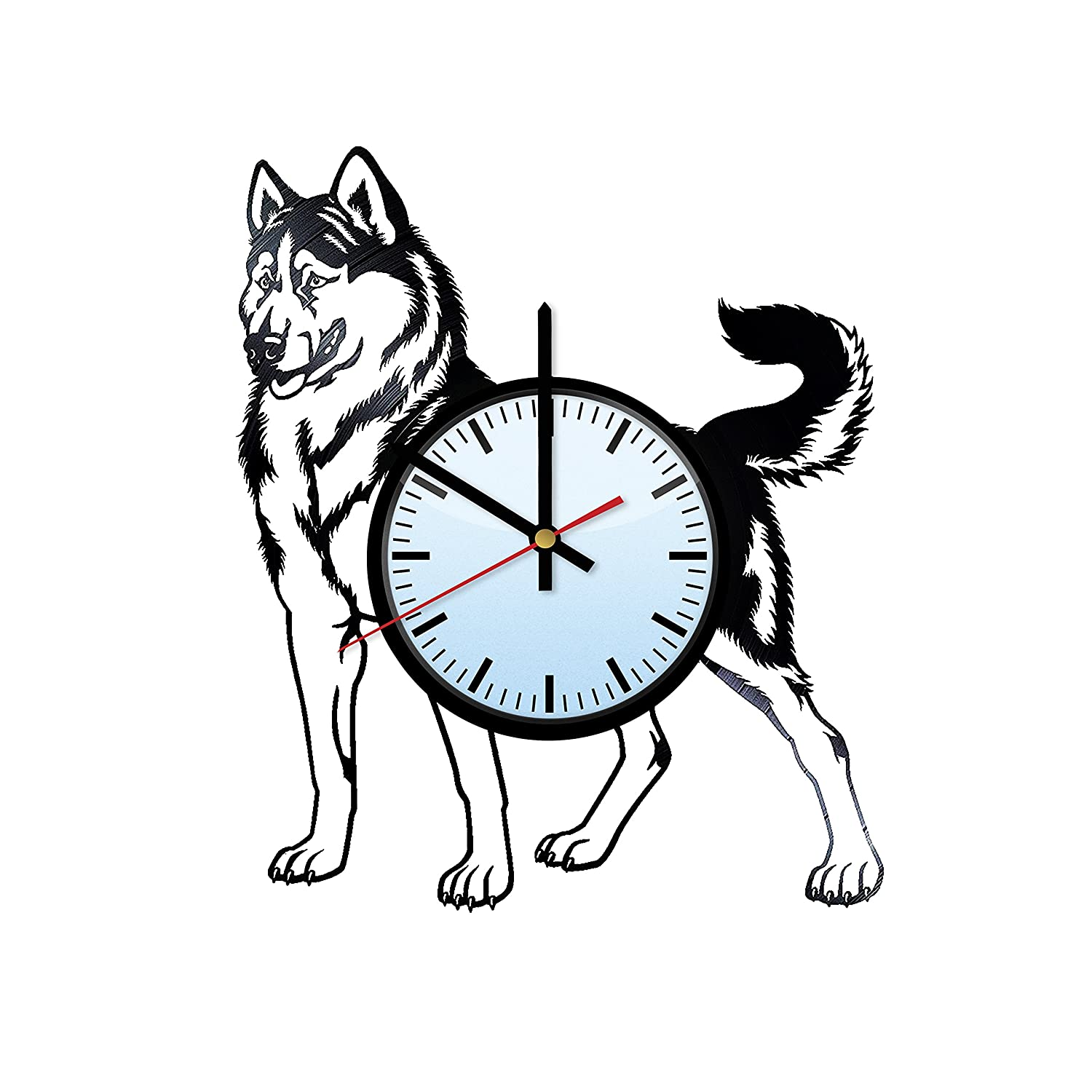 amazon husky style decor vinyl record wall clock unique Bon Jovi Hat husky style decor vinyl record wall clock unique decorative vinyl clock artwork unique home bedroom living room nursery wall decor great gifts idea for
