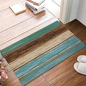 Big buy store Rustic Country Barn Wood Door Doormats Entrance Front Door Rug Outdoors/Indoor/Bathroom/Kitchen/Bedroom/Entryway Floor Mats,Home Decor Non Slip,18 x 30inch
