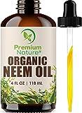 Organic Neem Oil For Skin - Neem Oil for Hair Pure Neem Oil Cold Pressed Neem Oil Essential Neem Oil Organic